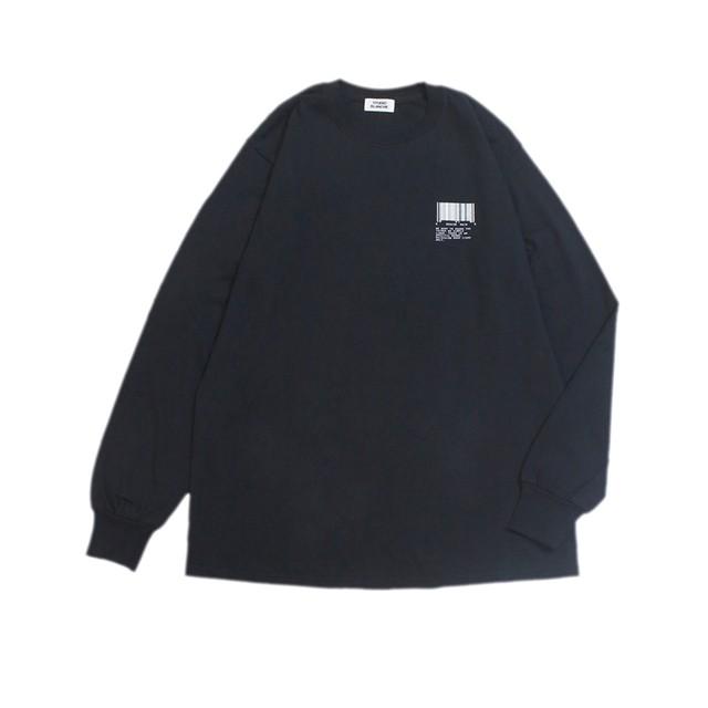 STUDIO BLANCHE / BARCORD PRINT LONG SLEEVE Tシャツ