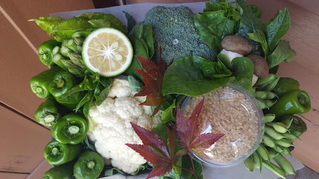 京野菜アレンジメント(M)+玄米350g