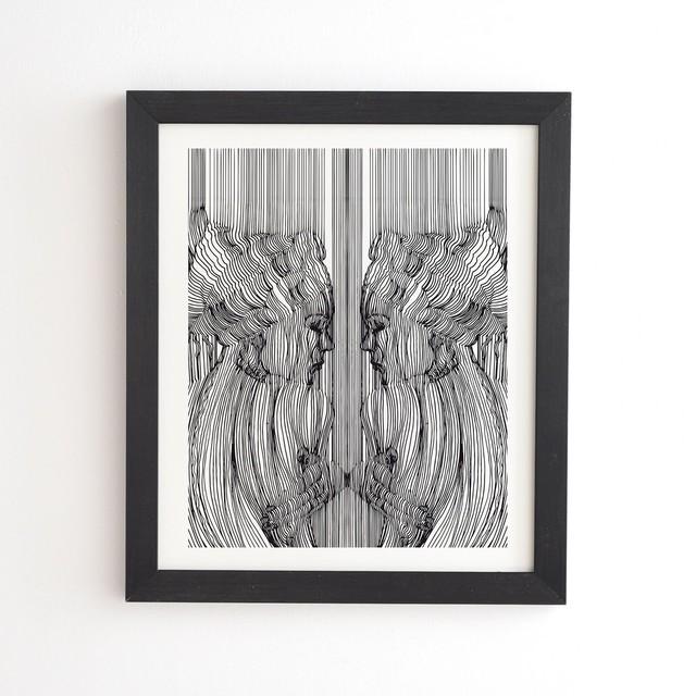 フレーム入りアートプリント  LOVE YOURSELF DOUBLY  BY MARTA BARRAGAN CAMARASA 【受注生産品: 8月下旬入荷分 オーダー受付中】
