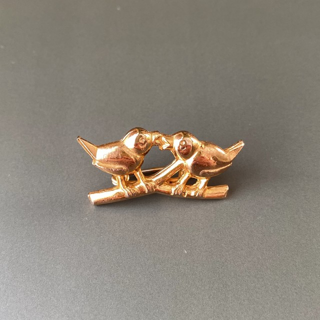 France 小鳥のプチブローチ /  ac0074