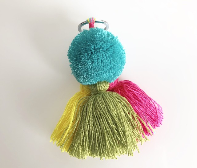 Wayuu New Pom and Tassel Keyring no.4