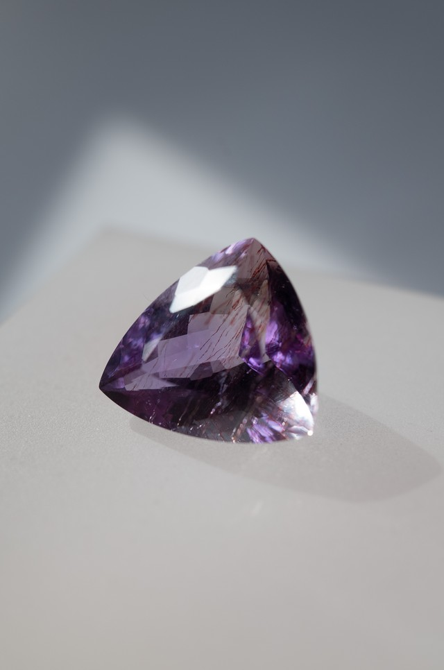 Goethite in Amethyst  Faceted - 016