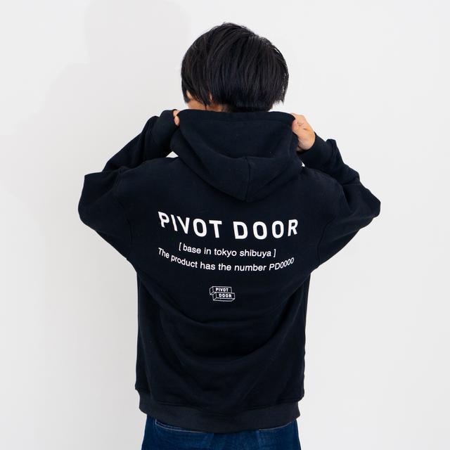 pivotdoor backprint hoodie PDR0764