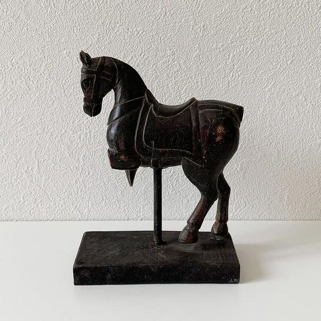 ヴィンテージ スタンドオブジェ インド建築装飾 馬003