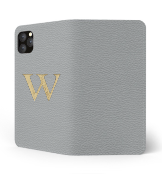 iPhone Premium Shrink Leather Case (Ice Grey)  : Book cover Type