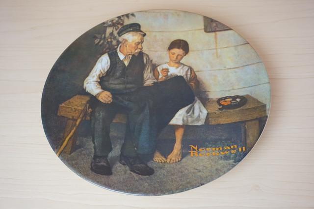 ノーマンロックウェル 絵皿(114-14)