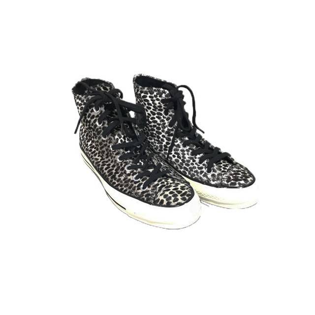 "CONVERSE : FIRST STRING CHUCK TAYLOR 1970 HI "" CHEETAH PONY HAIR TRAINERS "" BLACK LEOPARD"