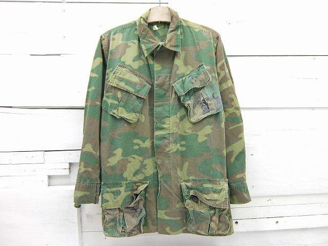 1960's USMC ミリタリー ベトナム ジャングルファティーグジャケット グリーンリーフ SMALL-LONG メンズ Mサイズ相当