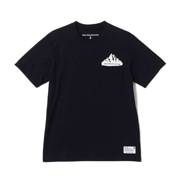 "White Mountaineering / PRINTED T-SHIRT ""POCKET""[BLACK/NAVY/WHITE/GREEN/RED]"