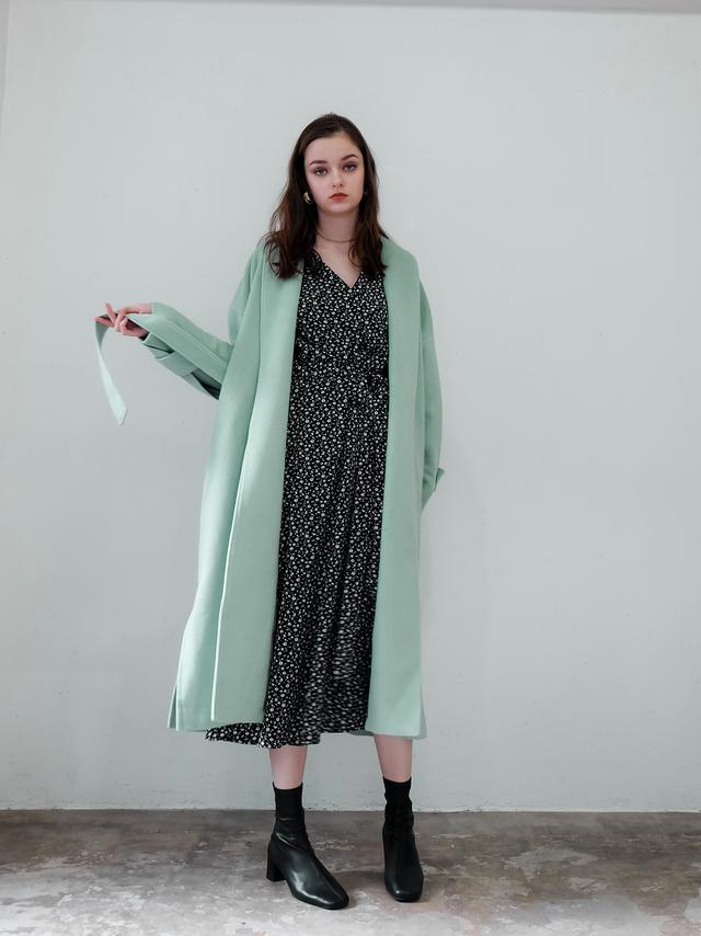 wool gown coat(mint)