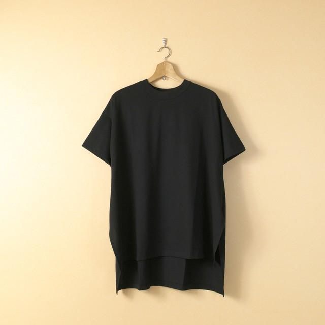 TRAVAIL MANUEL トラバイユマニュアル ギザコットン天竺ルークTシャツ・ブラック