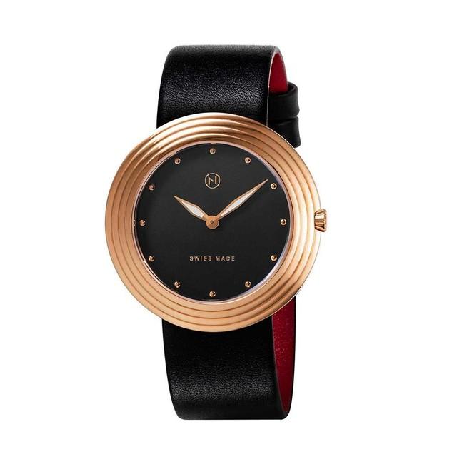 B006-01 Nove ストリームライナー スイス製 腕時計 Women  Black Rose