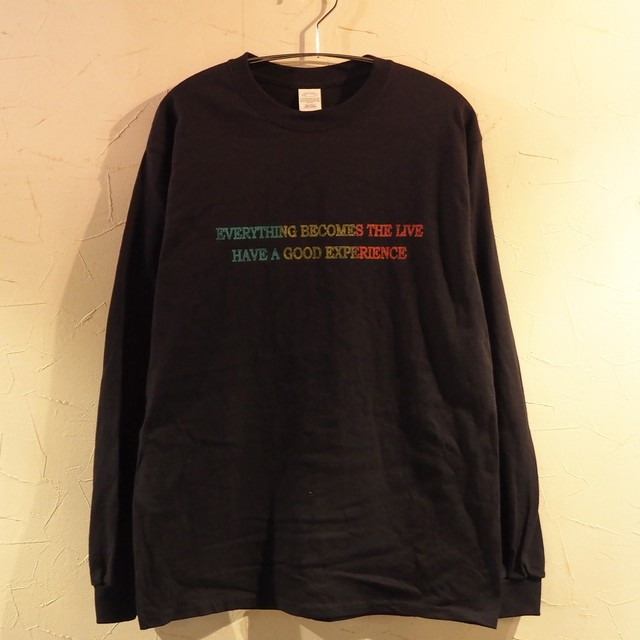 【一点物】Everything becomes the live Long Sleeve Black Lサイズ