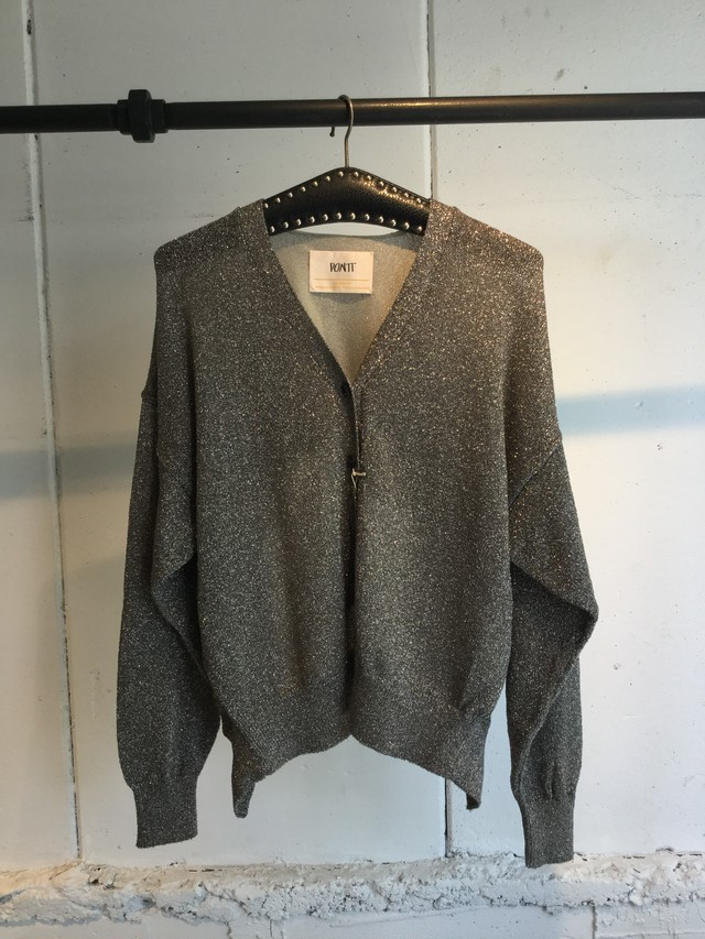 PONTI    LAME COMPINATION CARDIGAN (SILVER)