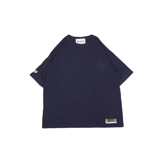 """""""STRAIGHT"""" POCKET TEE LOCAL MGZN 1ST ISSUE [NAVY]"""