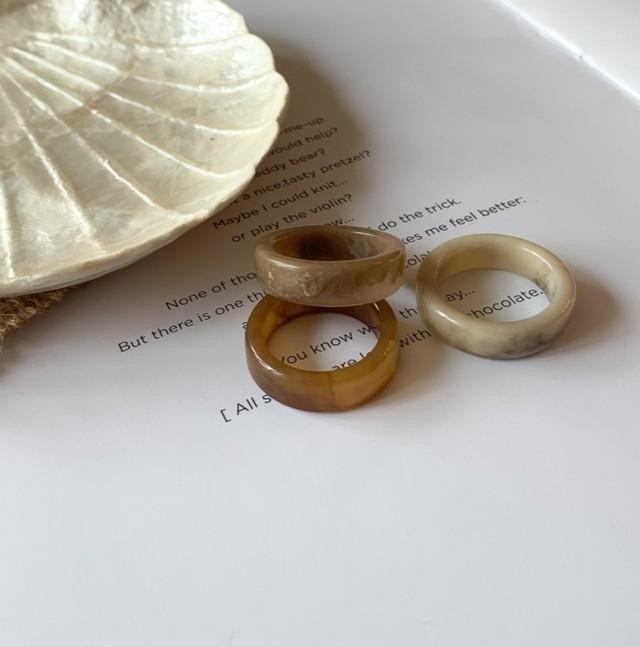 全3種・Acrylic Resin Ring