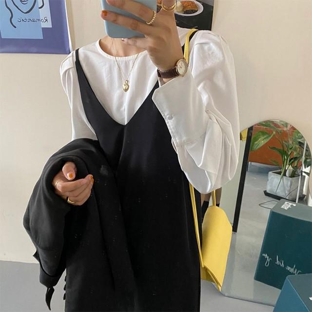 ◆即納◆パフスリーブ カフス袖デザインブラウス 2S-106