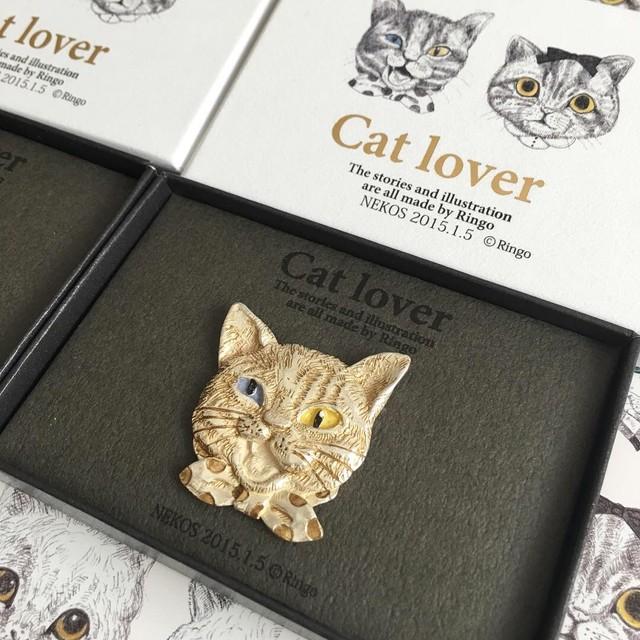 Cat lover.NEKOS BOYヤンくんブローチ