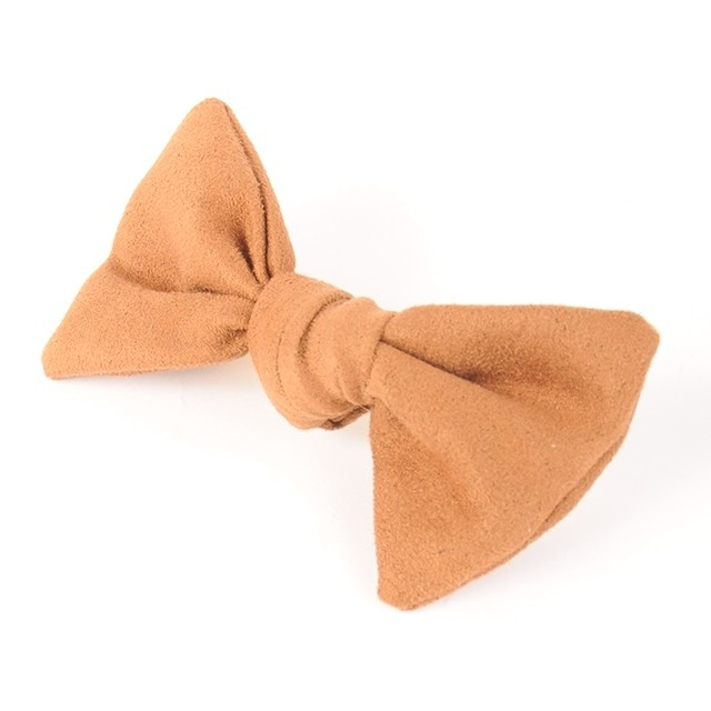 Joe14WT-48 suede mini barrette (beige)