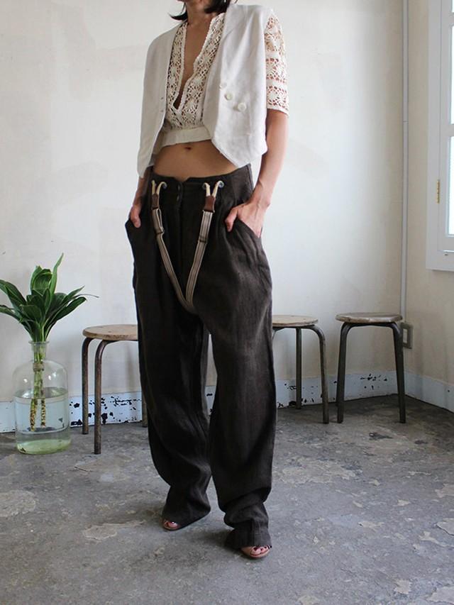 70s linen pants