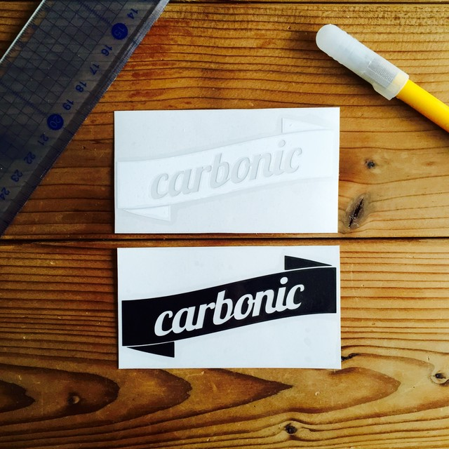 carbonic RIBBON cutting sticker (M)