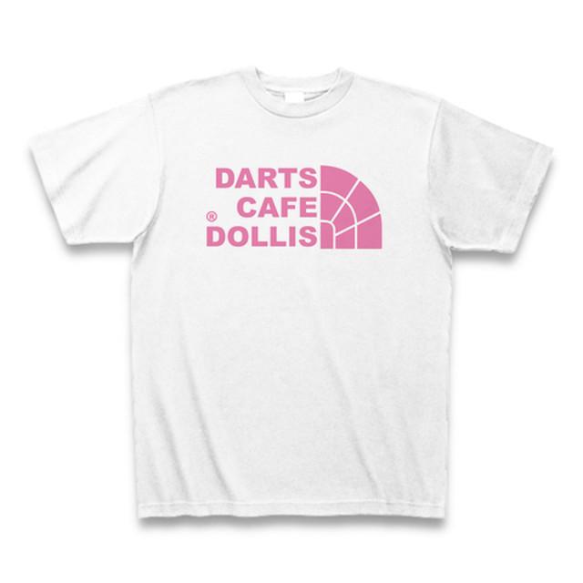 DOLLiSフェイスロゴTシャツ(白/ピンク)