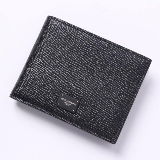 Dolce&Gabbana(ドルチェ&ガッバーナ) 二つ折り財布 レザーウォレット 小銭入れ付き メンズ ブラック BLACK BP0457 AZ602 [全国送料無料]r014175