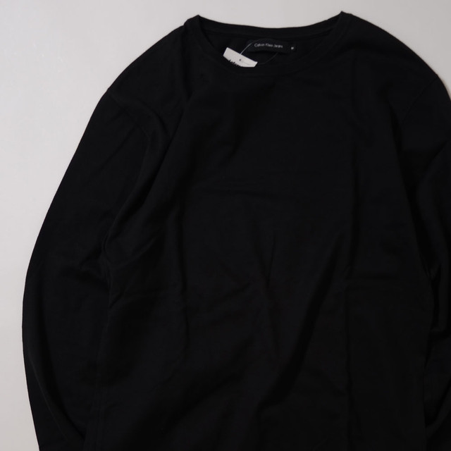 【Mサイズ】 CALVINKLEIN JEANS L/S TEE カルバンクライン 無地 ロングスリーブTシャツ BLK 400601190820