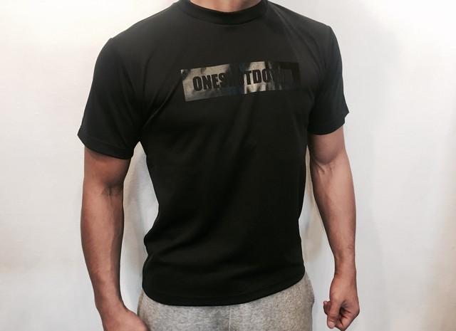 ONESHOTDOWN ボックスロゴ ドライTシャツ - メイン画像