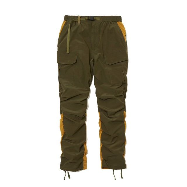 STRETCHED SHIRRING CARGO PANTS -KHAKI