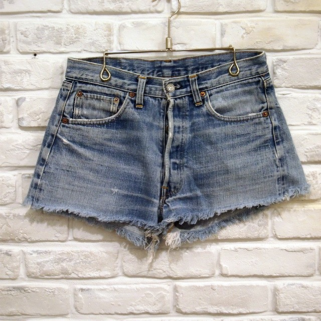 VINTAGE Levi's 501 CUT OFF 66 SINGLE stitch W30  NO,0008