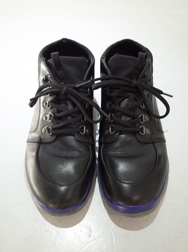 Used PRADA Leather mountain boots