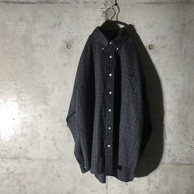 [used] black × white checked shirt