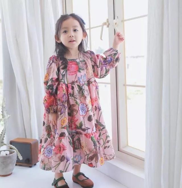 【即納】春物新作 花柄ロングワンピース