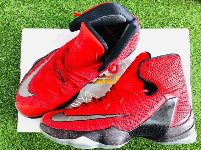 NIKE LEBRON 13 ELITE UNIVERSITY RED 28cm 831923-606 34.5JG7539
