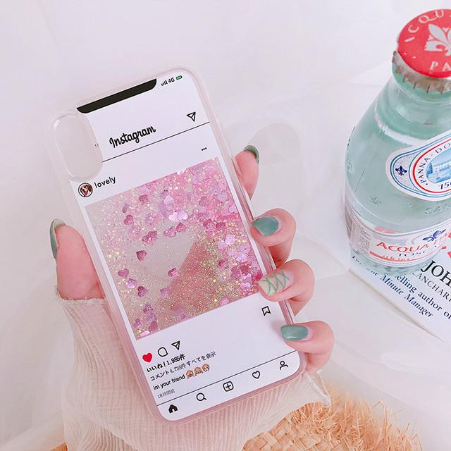 グリッターInstagram風iPhoneケース  6569