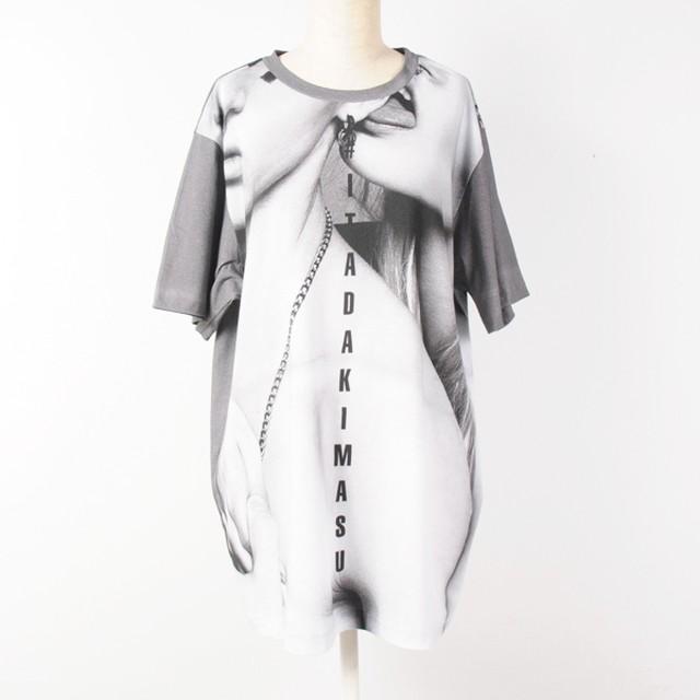 hs17AW-DY09 ITADAKIMASU T-SHIRT (gray)
