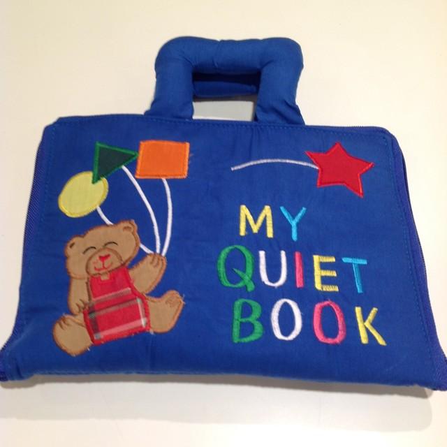 ハワイアンキルトベビーブック My Quiet book ブルー
