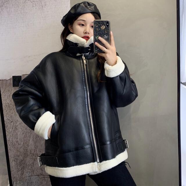 【アウター】ファッション長袖スタンドネックジッパーコート25969401