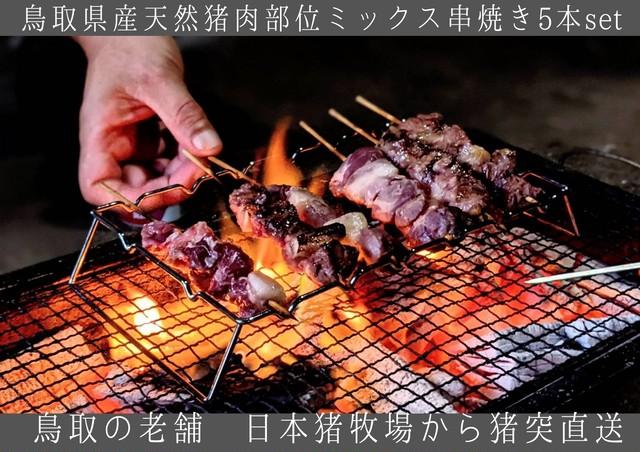 鳥取県産猪肉【串焼き用】部位ミックス 15本セット
