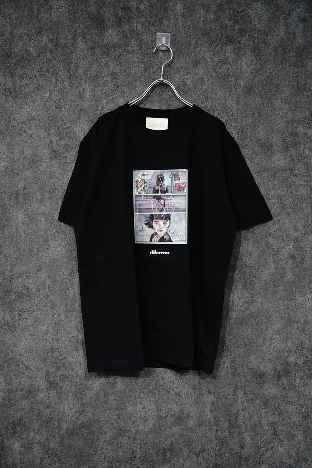 DILEMMA Comic Animation Tshirt/ BLACK