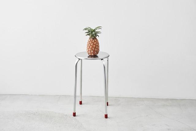 台湾 鉄製丸椅子(スツール)