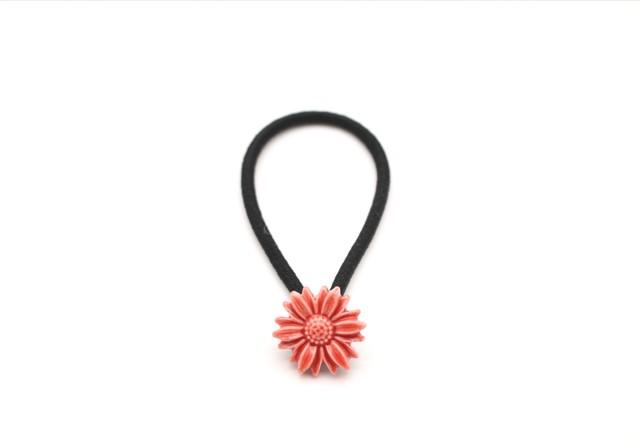 有田焼 ヘアゴム  daisy 赤(金彩なし)