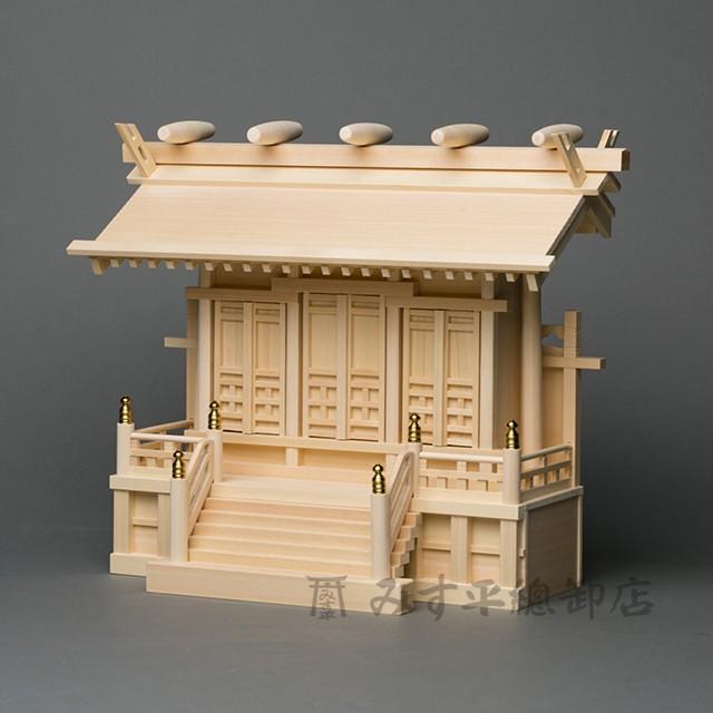 横通三社宮 廻縁屋根 1尺5寸 板戸