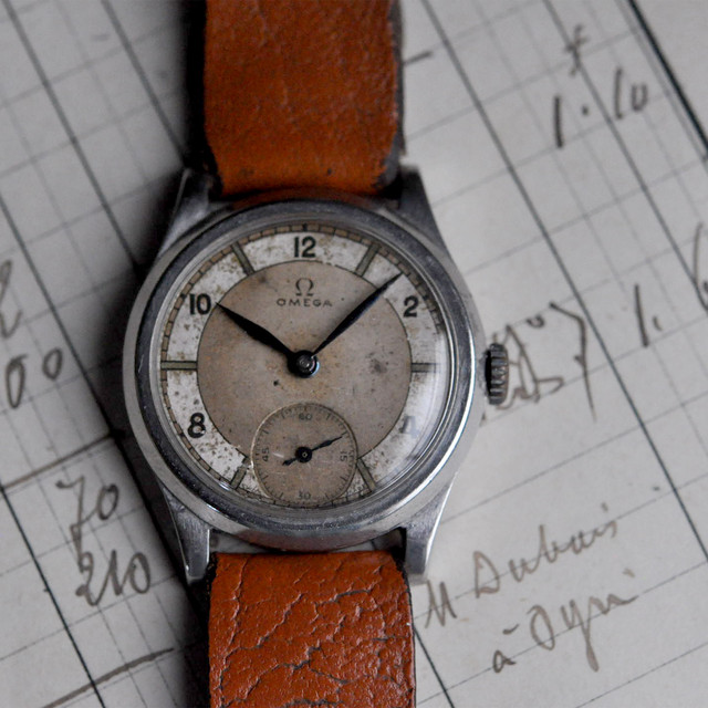 30s OMEGA military style Sector dial