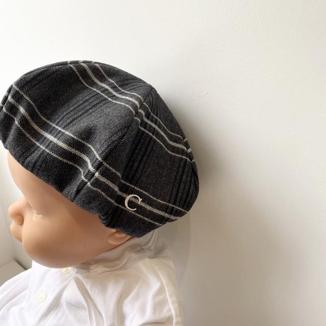 チェックベレー帽 / ホワイト / FREEサイズ
