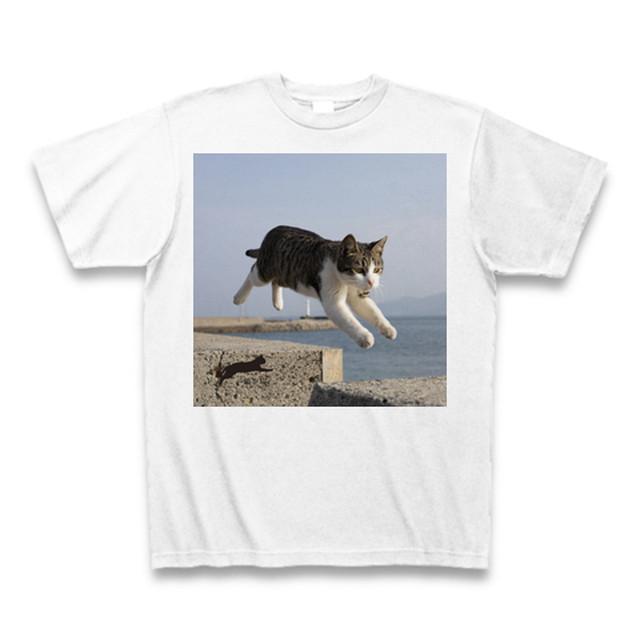 飛び猫Tシャツ3【送料無料】