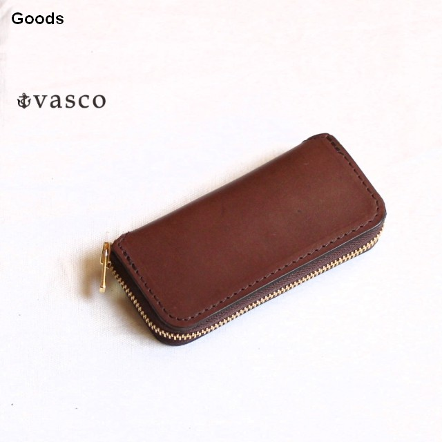 vasco  オイルドレザーキーケース LEATHER VOYAGE ROUND ZIP KEY CASE VSC-671Z (ブラウン)