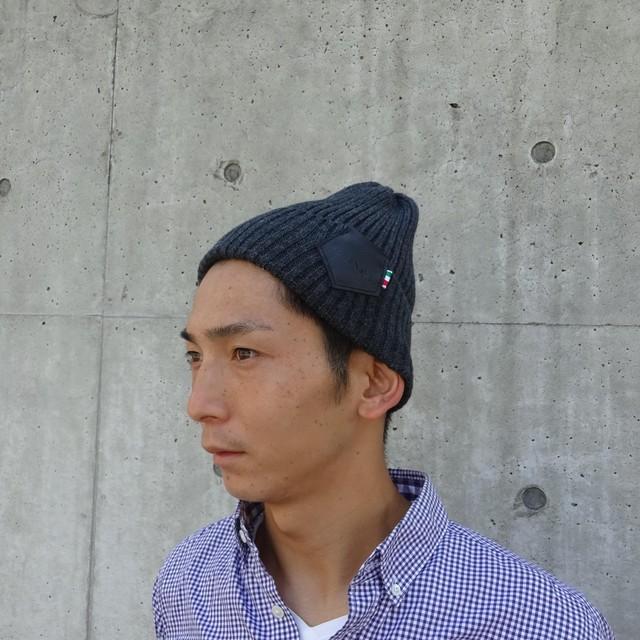 【UNISEX】Knit Cap (CHARCOAL)