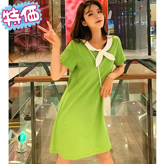 【ワンピース】カジュアルキュート無地青春ワンピース27604334